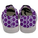 HEXAGON2 WHITE MARBLE & PURPLE DENIM Men s Classic Low Top Sneakers View4