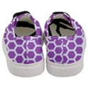 HEXAGON2 WHITE MARBLE & PURPLE DENIM Women s Classic Low Top Sneakers View4