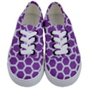 HEXAGON2 WHITE MARBLE & PURPLE DENIM Kids  Classic Low Top Sneakers View1