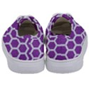 HEXAGON2 WHITE MARBLE & PURPLE DENIM Kids  Classic Low Top Sneakers View4