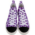 HEXAGON2 WHITE MARBLE & PURPLE DENIM Men s Mid-Top Canvas Sneakers View1
