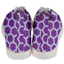 HEXAGON2 WHITE MARBLE & PURPLE DENIM Men s Mid-Top Canvas Sneakers View4