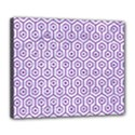 HEXAGON1 WHITE MARBLE & PURPLE DENIM (R) Deluxe Canvas 24  x 20   View1