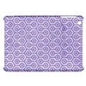 HEXAGON1 WHITE MARBLE & PURPLE DENIM (R) Apple iPad Mini Hardshell Case View1