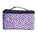 HEXAGON1 WHITE MARBLE & PURPLE DENIM (R) Cosmetic Storage Case View1