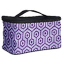 HEXAGON1 WHITE MARBLE & PURPLE DENIM (R) Cosmetic Storage Case View2