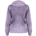 HEXAGON1 WHITE MARBLE & PURPLE DENIM (R) Women s Pullover Hoodie View2