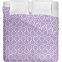 HEXAGON1 WHITE MARBLE & PURPLE DENIM (R) Duvet Cover Double Side (King Size) View1