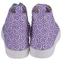 HEXAGON1 WHITE MARBLE & PURPLE DENIM (R) Women s Mid-Top Canvas Sneakers View4