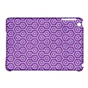 HEXAGON1 WHITE MARBLE & PURPLE DENIM Apple iPad Mini Hardshell Case (Compatible with Smart Cover) View1