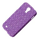 HEXAGON1 WHITE MARBLE & PURPLE DENIM Samsung Galaxy S4 I9500/I9505 Hardshell Case View4