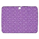 HEXAGON1 WHITE MARBLE & PURPLE DENIM Samsung Galaxy Tab 3 (10.1 ) P5200 Hardshell Case  View1