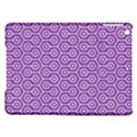 HEXAGON1 WHITE MARBLE & PURPLE DENIM iPad Air Hardshell Cases View1