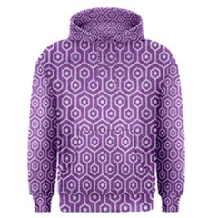 HEXAGON1 WHITE MARBLE & PURPLE DENIM Men s Pullover Hoodie