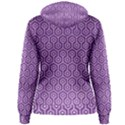 HEXAGON1 WHITE MARBLE & PURPLE DENIM Women s Pullover Hoodie View2