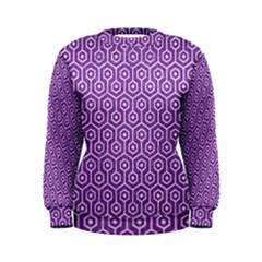HEXAGON1 WHITE MARBLE & PURPLE DENIM Women s Sweatshirt