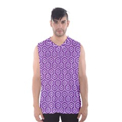 HEXAGON1 WHITE MARBLE & PURPLE DENIM Men s Basketball Tank Top