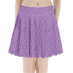 HEXAGON1 WHITE MARBLE & PURPLE DENIM Pleated Mini Skirt
