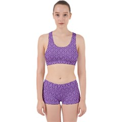 HEXAGON1 WHITE MARBLE & PURPLE DENIM Work It Out Gym Set