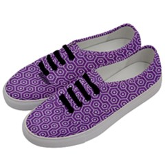 HEXAGON1 WHITE MARBLE & PURPLE DENIM Men s Classic Low Top Sneakers