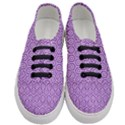 HEXAGON1 WHITE MARBLE & PURPLE DENIM Women s Classic Low Top Sneakers View1