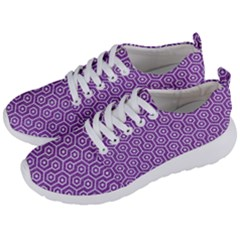 HEXAGON1 WHITE MARBLE & PURPLE DENIM Men s Lightweight Sports Shoes