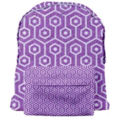 HEXAGON1 WHITE MARBLE & PURPLE DENIM Giant Full Print Backpack
