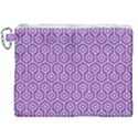 HEXAGON1 WHITE MARBLE & PURPLE DENIM Canvas Cosmetic Bag (XXL) View1
