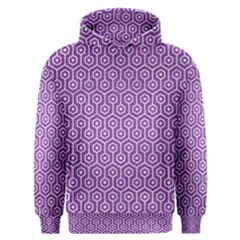 HEXAGON1 WHITE MARBLE & PURPLE DENIM Men s Overhead Hoodie