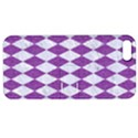 DIAMOND1 WHITE MARBLE & PURPLE DENIM Apple iPhone 5 Hardshell Case with Stand View1