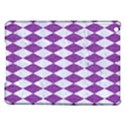 DIAMOND1 WHITE MARBLE & PURPLE DENIM iPad Air Hardshell Cases View1