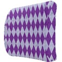 DIAMOND1 WHITE MARBLE & PURPLE DENIM Back Support Cushion View3