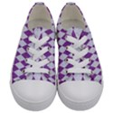 DIAMOND1 WHITE MARBLE & PURPLE DENIM Kids  Low Top Canvas Sneakers View1