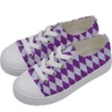 DIAMOND1 WHITE MARBLE & PURPLE DENIM Kids  Low Top Canvas Sneakers View2