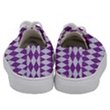 DIAMOND1 WHITE MARBLE & PURPLE DENIM Kids  Low Top Canvas Sneakers View4