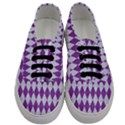 DIAMOND1 WHITE MARBLE & PURPLE DENIM Men s Classic Low Top Sneakers View1