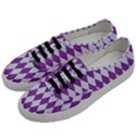 DIAMOND1 WHITE MARBLE & PURPLE DENIM Men s Classic Low Top Sneakers View2
