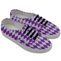 DIAMOND1 WHITE MARBLE & PURPLE DENIM Men s Classic Low Top Sneakers View3