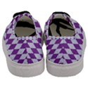 DIAMOND1 WHITE MARBLE & PURPLE DENIM Men s Classic Low Top Sneakers View4