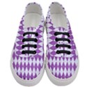 DIAMOND1 WHITE MARBLE & PURPLE DENIM Women s Classic Low Top Sneakers View1
