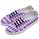 DIAMOND1 WHITE MARBLE & PURPLE DENIM Women s Classic Low Top Sneakers View2