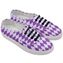 DIAMOND1 WHITE MARBLE & PURPLE DENIM Women s Classic Low Top Sneakers View3