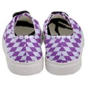 DIAMOND1 WHITE MARBLE & PURPLE DENIM Women s Classic Low Top Sneakers View4