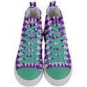 DIAMOND1 WHITE MARBLE & PURPLE DENIM Women s Mid-Top Canvas Sneakers View1