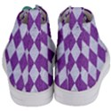 DIAMOND1 WHITE MARBLE & PURPLE DENIM Women s Mid-Top Canvas Sneakers View4