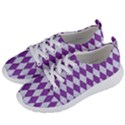 DIAMOND1 WHITE MARBLE & PURPLE DENIM Women s Lightweight Sports Shoes View2
