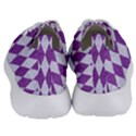 DIAMOND1 WHITE MARBLE & PURPLE DENIM Women s Lightweight Sports Shoes View4