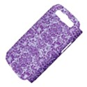 DAMASK2 WHITE MARBLE & PURPLE DENIM (R) Samsung Galaxy S III Hardshell Case (PC+Silicone) View4