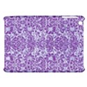 DAMASK2 WHITE MARBLE & PURPLE DENIM (R) Apple iPad Mini Hardshell Case View1
