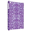 DAMASK2 WHITE MARBLE & PURPLE DENIM (R) Apple iPad Mini Hardshell Case View2